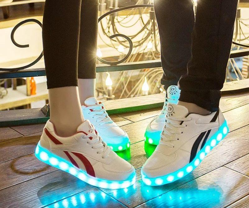 Tenis de Carga USB Zapatillas luminosas zapatos Led de zapatos iluminados