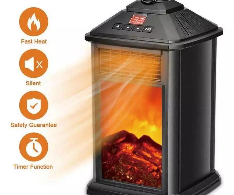 Calentador eléctrico de 800w termostato para invierno