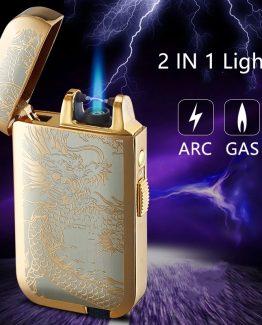 17001866191380864239 262x325 - Encendedor Lighter 2 En 1 Gas Y Arco De Plasma Recargable