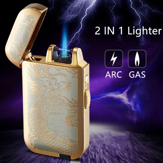 17001866191380864239 555x555 - Encendedor Lighter 2 En 1 Gas Y Arco De Plasma Recargable