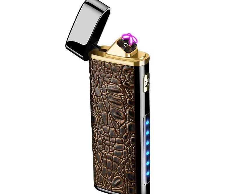 Encendedor Electrónico de Doble Arco con linterna recargable