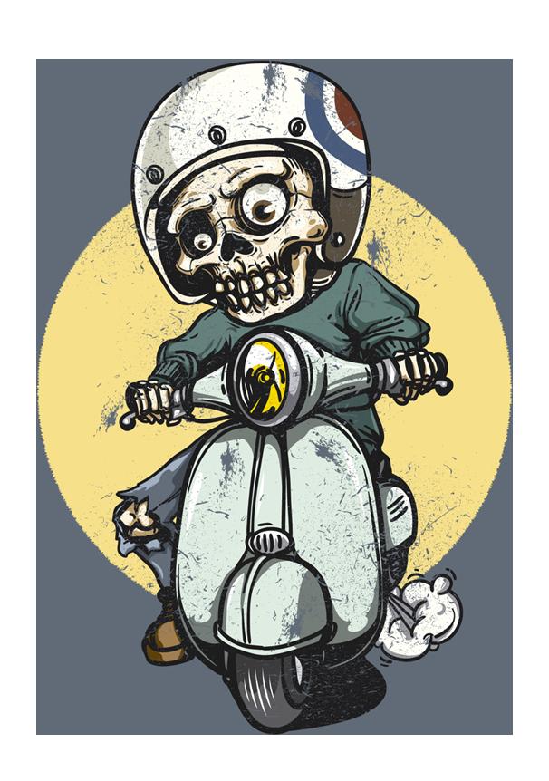 SkeletonRidingBike - Chat
