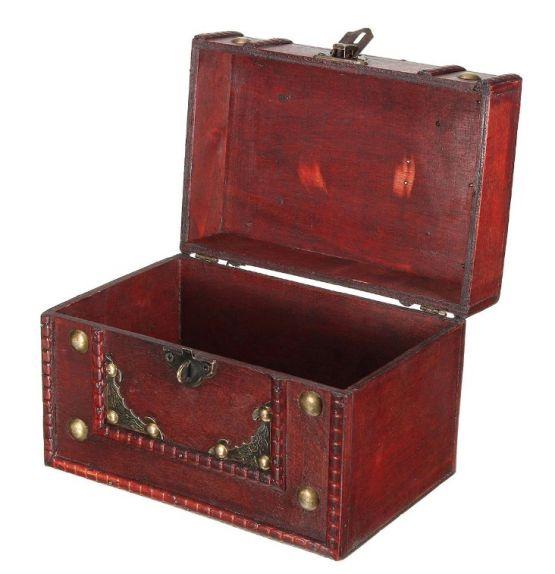 Caja almacenamiento vintage madera retro joyas joyeria cerradura 4 555x574 - Caja de Madera Roja Retro Vintage para almacenamiento y joyeria