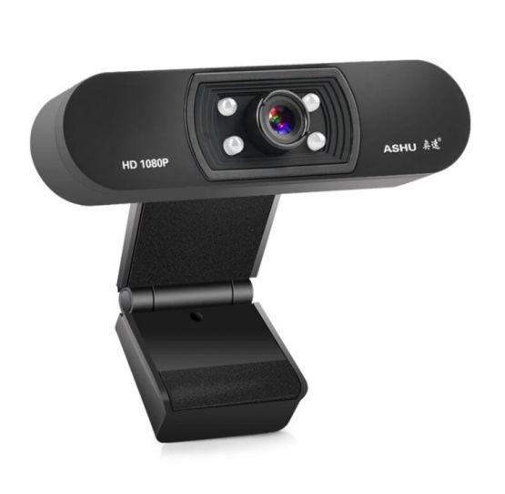 Camara web ASHU 1080p HD Widescreen Video Webcam Laptop PC 555x542 - Camara web A-H800 1080P HD Widescreen con Microfono para Laptop y PC