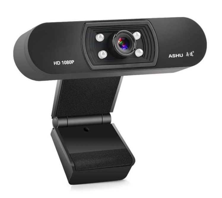 Camara web A-H800 1080P HD Widescreen con Microfono para Laptop y PC