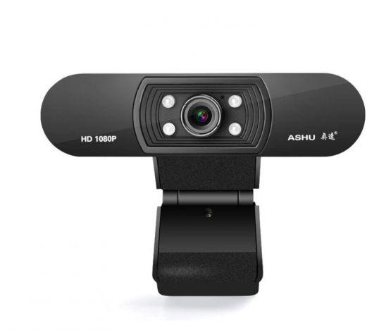 Camara web ASHU 1080p HD Widescreen Video Webcam Laptop PC 2 555x468 - Camara web A-H800 1080P HD Widescreen con Microfono para Laptop y PC