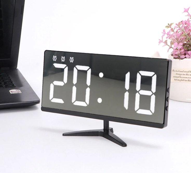 Reloj sin Marco y Alarma Digital Tactil para Hogar y Oficina