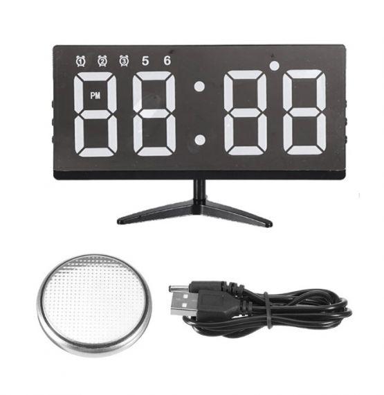 Reloj Pantalla Digital Alarma Touch Tactil Sin marco Hogar Oficina 4 555x570 - Reloj sin Marco y Alarma Digital Tactil para Hogar y Oficina