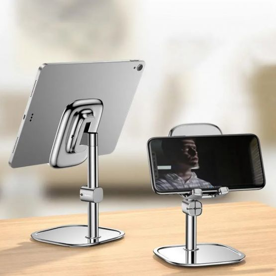 Soporte Baseus para tableta smartphone celular ajustable metal para iphone ipad samsung 555x555 - Soporte Baseus para Tableta y Celular de 4.0-12.9 pulgadas