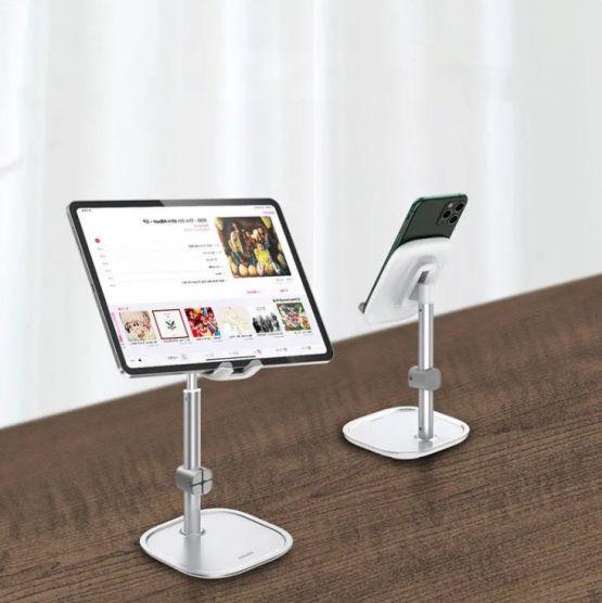 Soporte Baseus para tableta smartphone celular ajustable metal para iphone ipad samsung 2 555x556 - Soporte Baseus para Tableta y Celular de 4.0-12.9 pulgadas