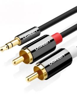 Cable ugreen rca a 3.5mm jack 262x325 - Ugreen Cable RCA HiFi Estereo 2RCA Cable de audio Jack 3.5 mm