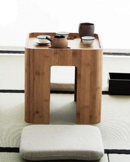 chengshe mesa de centro tatami cojines 262x325 - Mesa de centro de Madera Japonesa Tatami