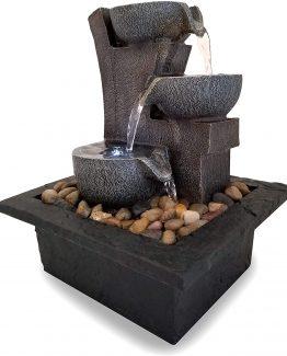 fuente meditacion piedra 262x325 - Fuente de 3 niveles estilo piedra para interior