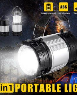 lampara linterna 2 en 1 portatil campismo 262x325 - Lampara y linterna 2 en 1 de bateria portatil